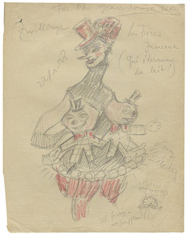 Sergei Einstein Drawing from the film, The Glass House